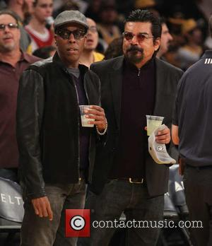 George Lopez , Arsenio Hall - Celebrities watch the Los Angeles Lakers against the Indiana Pacers. The Indiana Pacers defeated...
