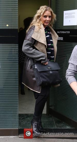 Carol Vorderman - Carol Vorderman seen leaving the Sunday Brunch studios - London, United Kingdom - Sunday 29th November 2015