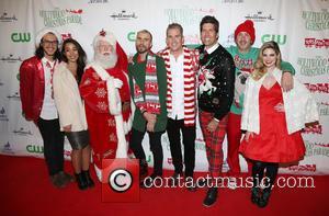 Alex Kinsey, Sierra Deaton, Tyler Glenn, Mark Mcgrath, Sam Hollander and Santa