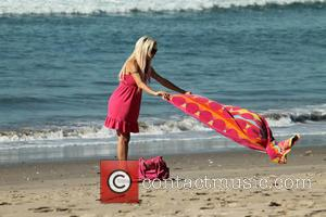 Frenchy Morgan - 'Celebrity Big Brother' star Frenchy Morgan wears a tiny pink bikini at the beach in Santa Monica...