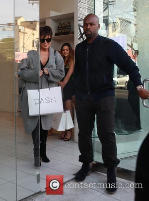 Kris Jenner , Corey Gamble - Kris Jenner leaving Kylie Jenner's Lip Kit product release party at Dash with boyfriend...