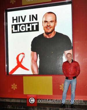 Philip Christopher Baldwin - Gay rights activist, Philip Christopher Baldwin launches World Aids Day with 'HIV In Light', at Piccadilly...