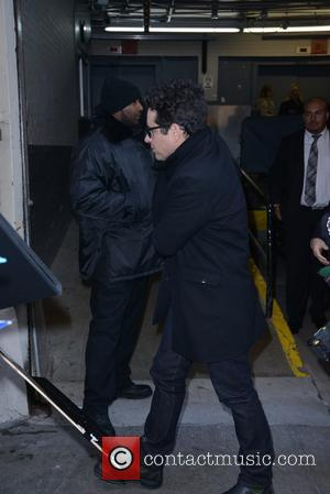 JJ Abrams - Star Wars director JJ Abrams signs posters for fans outside of Huffington Post live - Manhattan, New...