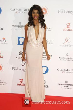 Sinitta - The Global Gift Gala 2015 held at the Four Seasons Hotel - Arrivals - London, United Kingdom -...