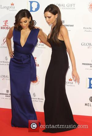 Eva Longoria , Victoria Beckham - The Global Gift Gala 2015 held at the Four Seasons Hotel - Arrivals -...