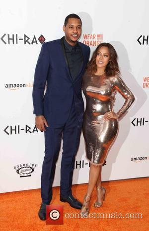 Carmelo Anthony and Lala Anthony
