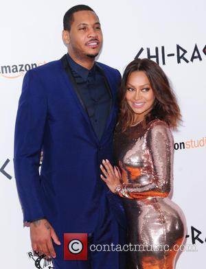 Carmelo Anthony , Lala Anthony - New York premiere of 'Chi-Raq' at the Ziegfeld Theater - Arrivals at Ziegfeld Theater...