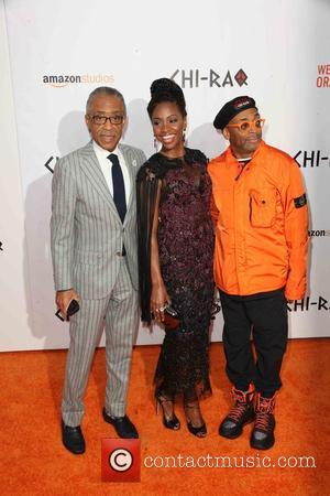Al Sharpton, Teyonah Parris and Spike Lee