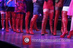 cast - Wayne Brady's opening night in Broadway musical Kinky Boots at the Al Hirschfeld Theatre - Curtain Call. at...