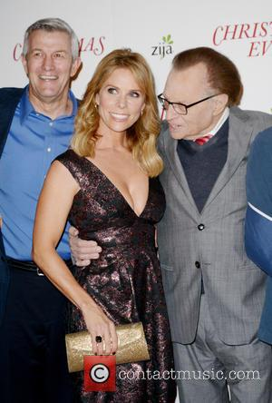 Left To Right: Mitch Davis, Cheryl Hines and Larry King