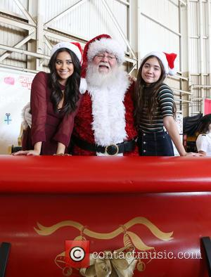 Shay Mitchell, Santa Claus and Rowan Blanchard