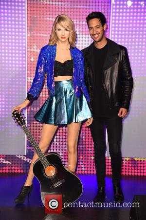 Taylor Swift , Sami Slimani - Sami Slimani unveiling the new Taylor Swift wax figure at Madame Tussauds in Mitte....