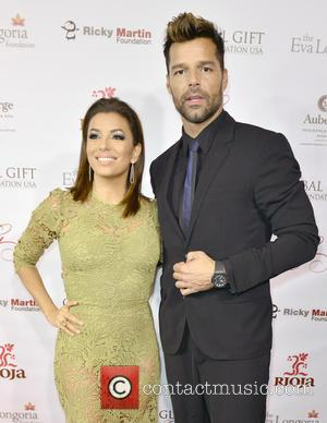 Eva Longoria , Ricky Martin - Global Gift Foundation Dinner at Auberge Residences & Spa - Arrivals at Auberge Residences...