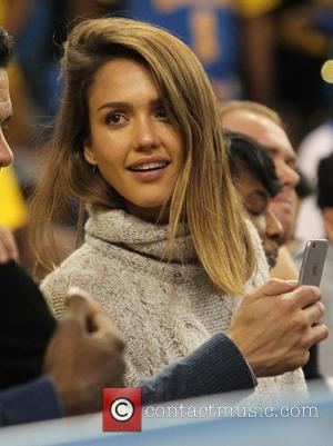 Jessica Alba - Celebrities at the UCLA game. The UCLA Bruins defeated the Kentucky Wildcats by the final score of...