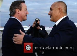 David Cameron , Prime minister Boyko Borisov - Prime minister David Cameron on an official visit to Bulgaria and meets...