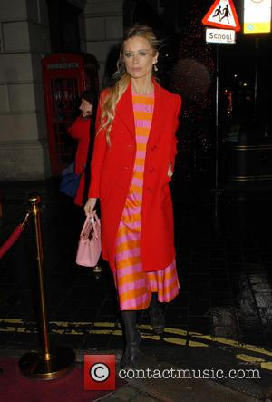 Laura Bailey - Charlotte Tilbury's 'Naughty Christmas Party' flagship store launch party at The Nag's Head Pub - London, United...