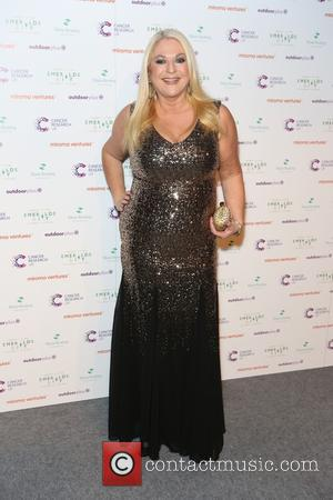 Vanessa Feltz - Ronan Keating's Emeralds & Ivy 10th anniversary ball, a fundraising ball in aid of Cancer Research UK...
