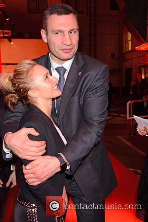 Wladimir Klitschko , Hayden Panettiere - Hayden Panettiere joins Wladimir Klitschko at German charity event Ein Herz fuer Kinder -...