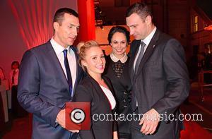 Wladimir Klitschko, Hayden Panettiere, Natalia Klitschko and Vitali Klitschko