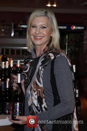Olivia Newton John - Olivia Newton John wine and CD signing at Flamingo Las Vegas at Flamingo Hotel and Casino...