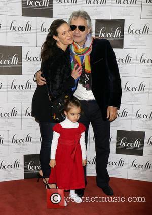 Andrea Bocelli, Veronica Berti and Virginia Bocelli