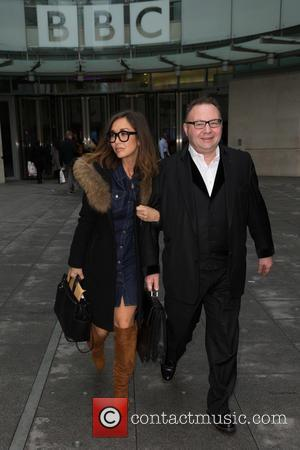 Myleene Klass , Jonathan Shalit - Myleene Klass and Jonathan Shalit spotted at the BBC Studios at BBC Portland Place...