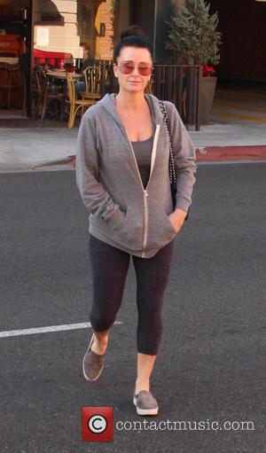 Kyle Richards - Dressed down and makeup free 'Real Housewives Of Beverly Hills' star, Kyle Richards has her hair tied...
