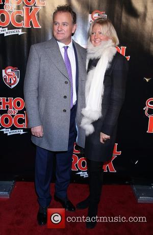 Hugh Bonneville , Lulu Williams - Opening night for Broadway musical School of Rock at the Winter Garden Theatre -...