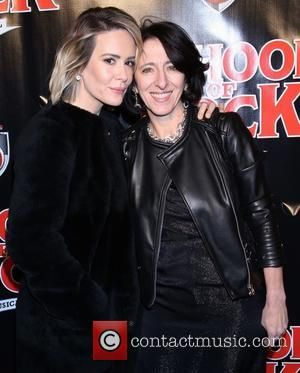 Sarah Paulson , Anna Louizos - Opening night for Broadway musical School of Rock at the Winter Garden Theatre -...