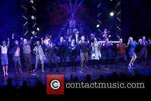 cast - Opening night for Broadway musical School of Rock at the Winter Garden Theatre - Curtain Call. at Winter...