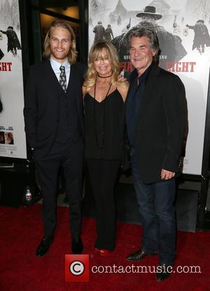 Wyatt Russell, Goldie Hawn and Kurt Russell