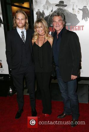 Wyatt Russell, Goldie Hawn and Kurt Russell