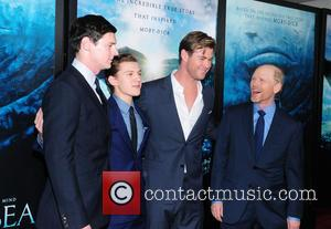 Tom Holland, Benjamin Walker, Chris Hemsworth and Ron Howard