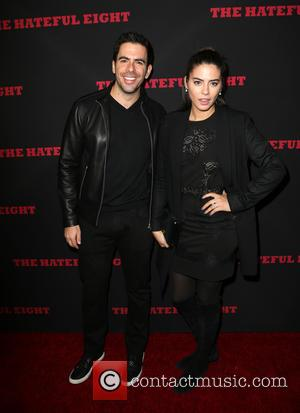 Eli Roth , Lorenza Izzo - Premiere of The Weinstein Company's 'The Hateful Eight' - Arrivals at ArcLight Cinemas Cinerama...