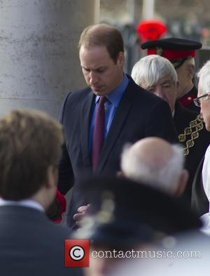 Prince William , Duke of Cambridge - Prince William lays a wreath at the Unveiling of the Victoria Cross Commemorative...
