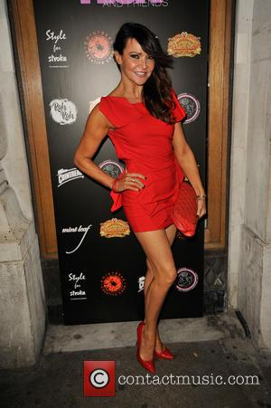 Lizzie Cundy - A Night With Nick Ede annual charity fundraiser in aid of The Stroke Association at Rah Rah...