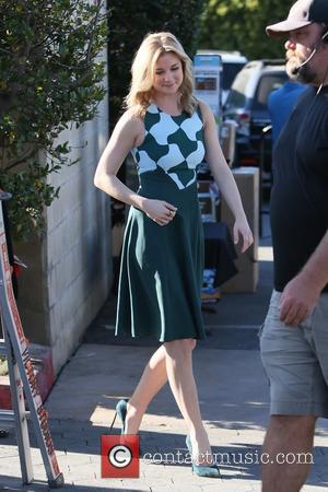Emily VanCamp - Emily VanCamp seen at Universal studios where she was interviewed by Charissa Thompson for television show Extra...