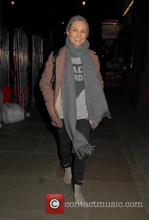 MyAnna Buring - MyAnna Buring leaving Trafalgar Studios after performing in 'The Wasp' - London, United Kingdom - Tuesday 8th...