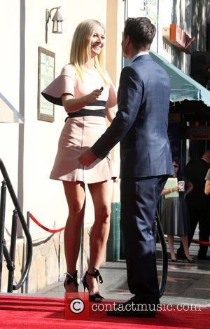 Gwyneth Paltrow , Rob Lowe - Rob Lowe honored with a star on the Hollywood Walk of Fame at On...