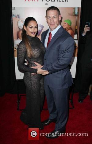 Nikki Bella , John Cena - New York premiere of 'Sisters' at Ziegfeld Theater - Arrivals at Ziegfeld Theater -...