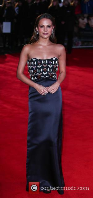 Alicia Vikander - UK premiere of 'The Danish Girl' at the Odeon Leicester Square - Red Carpet Arrivals at Odeon...