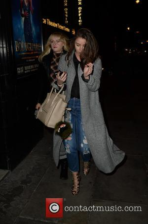 Brooke Vincent , Katie McGlynn - Celebrities arrive at the Palace Theatre, Manchester for The Body Guard VIP press night...