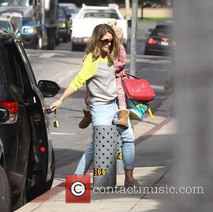 Rebecca Gayheart , Billie Beatrice Dane - Rebecca Gayheart holds her daughter, Billie hand on the school run where it...