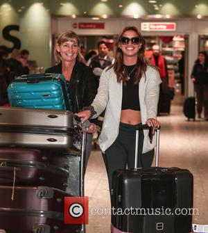 Ferne McCann - Winner of 'I'm a Celebrity, Get me Out of Here' Vicky Pattison arrives at Heathrow airport with...