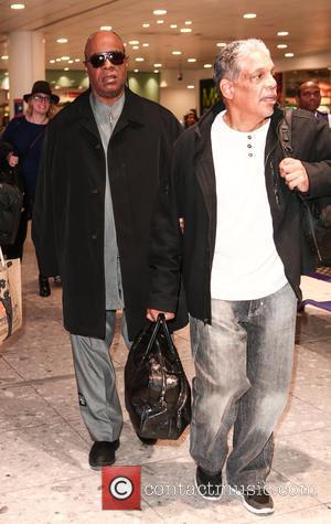 Stevie Wonder - Stevie Wonder arrives at London Heathrow Airport - London, United Kingdom - Wednesday 9th December 2015