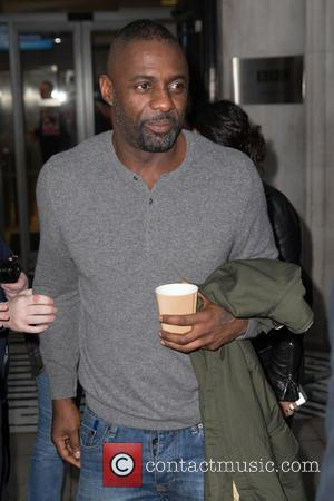 Idris Elba - Idris Elba arriving at the BBC Radio 2 studios at BBC Western House - London, United Kingdom...