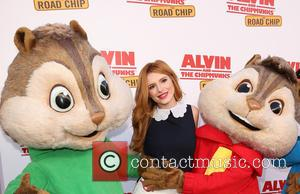 Bella Thorne - 'Alvin and the Chipmunks: The Road Chip' premiere at the Darryl F. Zanuck Theatre at Zanuck Theater...