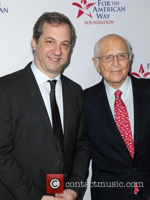 Judd Apatow , Norman Lear - 2015 Spirit Of Liberty Awards Dinner at Beverly Wilshire Four Seasons Hotel - Beverly...