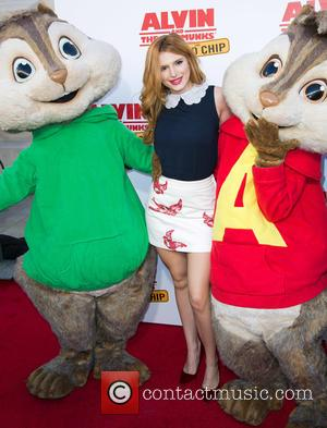 Bella Thorne, Alvin , The Chipmunks - 'Alvin and the Chipmunks: The Road Chip' premiere at the Darryl F. Zanuck...