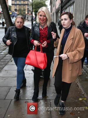 Kim Wilde - Kim Wilde and Chris Ramsey leave the studio after appearing on